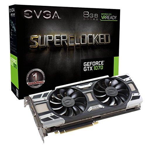 EVGA GeForce GTX 1070 SC GAMING ACX 3.0, 8GB GDDR5, LED, DX12 OSD SUPPORT (PXOC) Grafikkarte 08G-P4-6173-KR