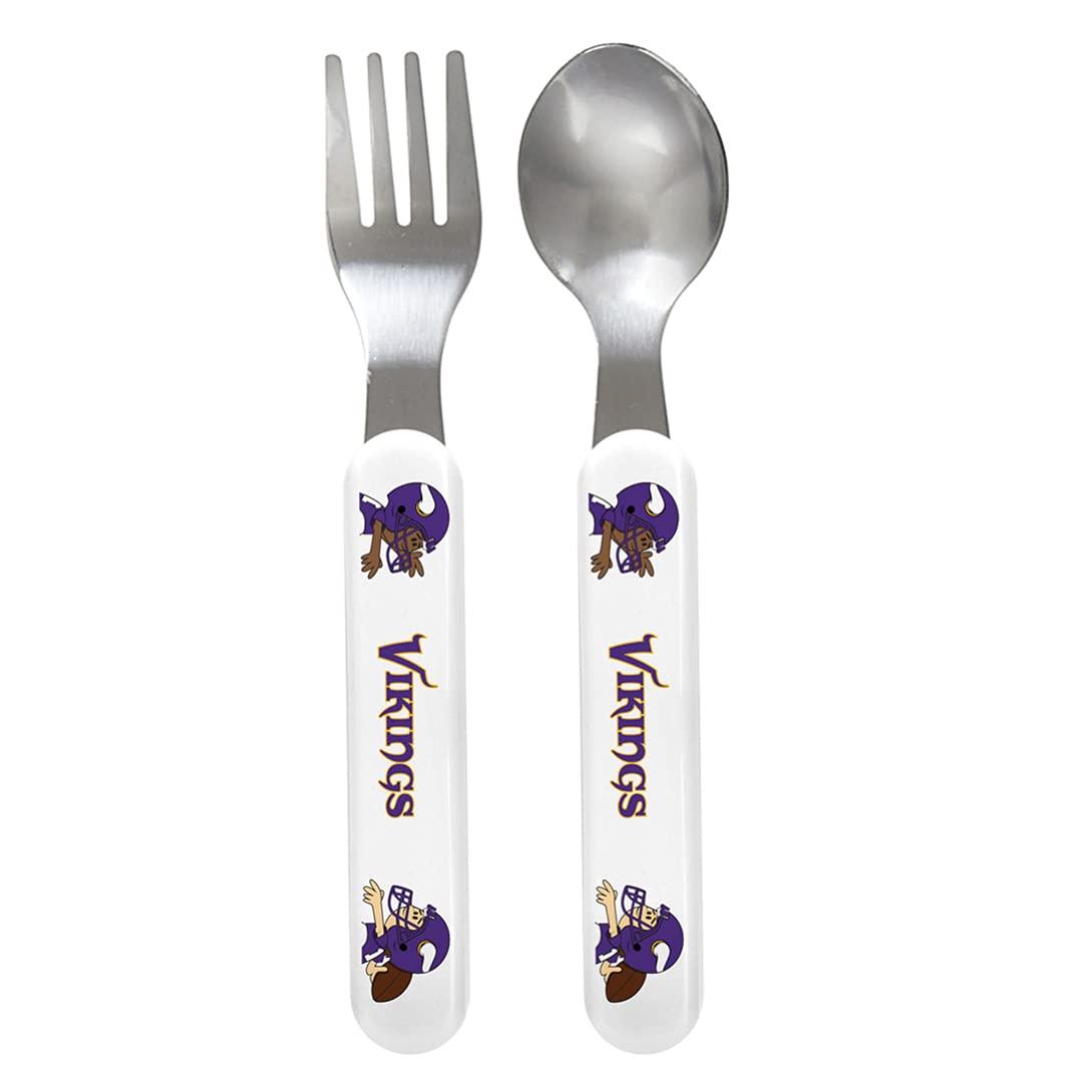 Baby Fanatic Fork and Spoon Set Minnesota Washington Tampa Mall Mall One MI Size Vikings