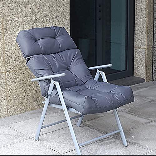 ADSE Cojines Impermeables para sillas de Patio, cojín para Banco de jardín con Respaldo, sillón Largo para Exteriores, cojín para Silla de ratán112x56x10cm-gris
