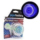 YoyoFactory SPINSTAR Yo-Yo - Azul (Iluminar, Genial para Principiantes, Juego Yoyo Moderno, Cuerda e Instrucciones Incluidas)