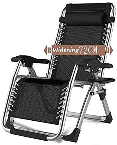 Home Recliners Chairs Oversize Patio Lounger Folding Sun Loungers In Garden Outdoors Recliner Beach Armchair Supports 200kg Colour:Without Cushions Portable
