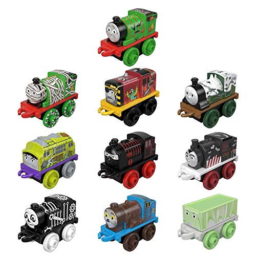 Thomas & Friends MINIS Toy Trains 10-Pack of characters with Halloween designs