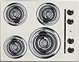 Summit SEL03 Electric Cooktop, Bisque