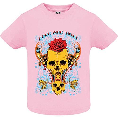 LookMyKase T-Shirt - Love and Pride - Bébé Fille - Rose - 2ans