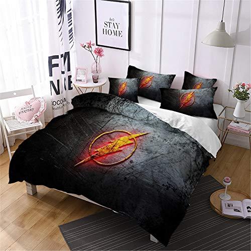 YOMOCO DC Comics - Juego de funda nórdica y dos fundas de almohada, microfibra, impresión digital 3D (15,210 x 210 cm)