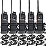 Caseof10,Retevis H-777S 2 Way Radio Walkie Talkies Long Range,Two-Way Radio with Earpiece, Handsfree Rechargeable for Adults Business with Earpiece