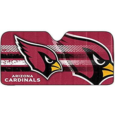 1 pc NFL Arizona Cardinals Logo Red Reflective Aluminum Sun Shade New Universal