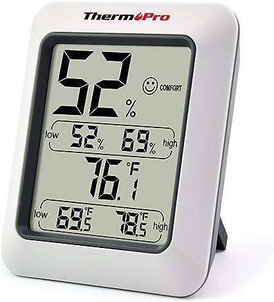ThermoPro TP50 Termometro Igrometro Digitale per Casa Misuratore di umidità e Temperatura Interno Termoigrometro Professionale con per Misura Ambiente