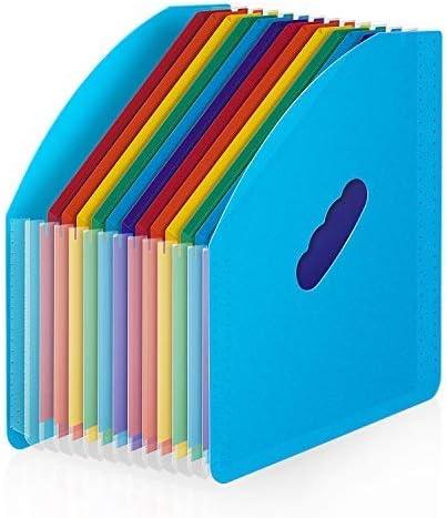 BluePower Accordian File Organizer 12 Pocket Expanding Folder Desk Storage Expander Portable product image