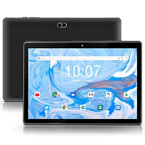 Android 10.0 Tablet 10 inch qunyiCO Y10 (10.1  ), 2GB RAM 32GB Storage, 2MP+8MP Dual Camera, Quad-Core Processor, 1280x800 IPS HD Display Screen, Wi-Fi Bluetooth 5000mAh, Google GMS Certified Black