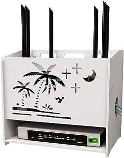 LULUDP Scatola di archiviazione Wireless Ricarica Spina del Cavo di Sicurezza Wi-Fi Router Storage Box Set-Top Libera punz...