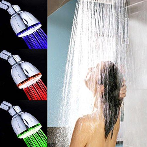 7 couleurs changeantes LED tête de douche de douche robinet Maison Salle de bain TOP douche de tête, Gradient Couleur