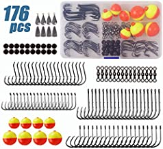 JSHANMEI Fishing Tackle Kit Fishing Hooks Fishing Swivels Fishing Sinkers Fishing Bobbers Starter Fishing Gear Tackle Box with Tackle Included
