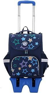 Zaini scolastici Zaino for Zaino Scolastico elementare con Ruote for Bambini da 5-12 Anni Bookbags Kids Boys Poliestere Re...