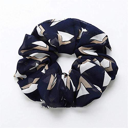 OULN1Y Bandeaux Hair Scrunchies Elasticity Scrunchie Ponytail Holder Hairband Print Pattern Hair Rope Tie Stipe Floral Women Girls,13