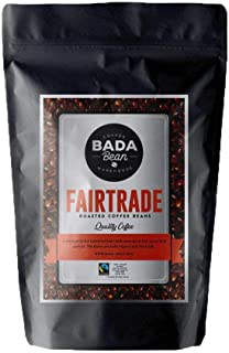 Bada Bean Coffee, Fairtrade, Roasted Beans. Fresh Roasted Daily. Award Winning Speciality Coffee Beans. 250g (Ground for Percolator)