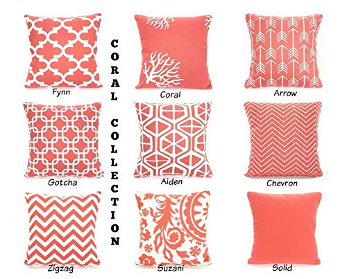 hose233 Coral - Fundas de almohada decorativas para sofá, cama, mezcla a juego