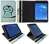 3Q AC1024C / QS1023H / RC1025F 10 Zoll Tablet Schlafende Eule Universal 360 Grad Drehung PU Leder Tasche Schutzhülle Case von Sweet Tech