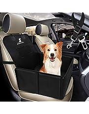 Wimypet Refuerzo de Coche para Perros, Asiento del Coche de Seguridad para Perro Mascota -59X49X46 cm, con Cinturón de Seguridad para Perro, Material Oxford 900D+PVC Inferior, Coche y SUV Trucks ect.
