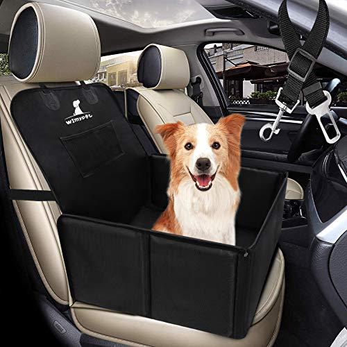 Wimypet Seggiolino Auto per Cani con Cintura di Sicurezza, Impermeabile Seggiolino Auto Cane con Lati Robusti di Piccola Media Taglia, Trasportino Cane Auto Facile da Installare