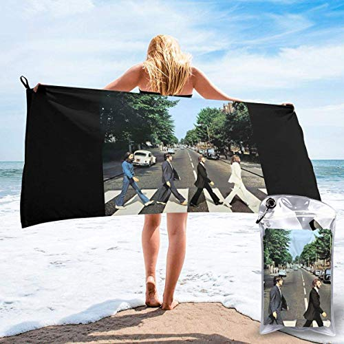 Lucky girlfriend Abbey Road 50th Anniversary The Funny Beach Towel Outdoor Quick Drying Towel for Beach Sports Swim Surf