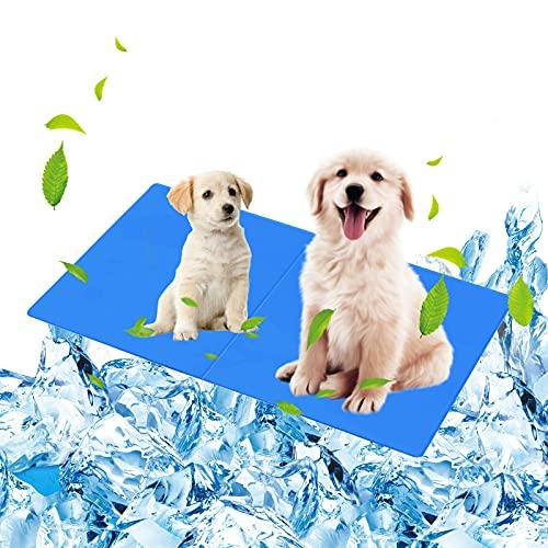 Punvot Alfombrilla de refrigeración para mascotas, esterilla perros y gatos, auto-enfriamiento 65 x 50 cm, caseta perros, cama animales casa o en el coche