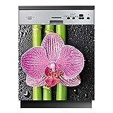 Stickers Lave Vaisselle Fleur - LAV-180-60x60 cm