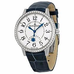 Rendez-Vous Silver Dial Diamond Bezel Blue Leather Watch Q3448420