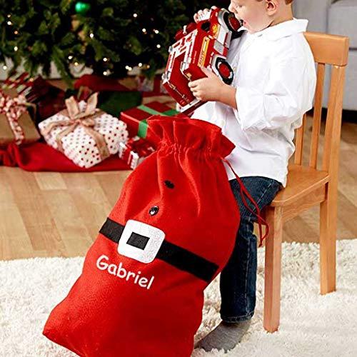 DIBSIES Personalized Santa Sack - Standard Size (Red Santa Sack)
