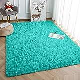 Vasofe Super Soft Kids Room Nursery Rug 4' x 6' Blue Area Rug for Bedroom Decor Living Room Floor Carpets Fur Mat