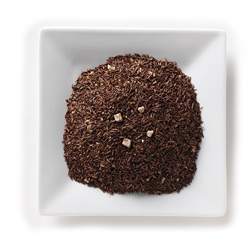 Mahamosa Rooibos Herbal Tea and Tea Filter Set: 4 oz Caramel Rooibos Tea, 100 Loose Leaf Tea Filters (Bundle- 2 items)(Tea ingredients: Rooibos tea, cream caramel piece, brittle pieces, flavoring)