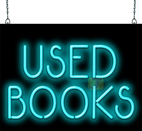 Used Books Inventory cleanup selling sale Neon Sign Opening large release sale