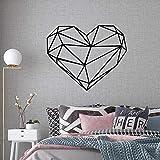 Pegatinas de pared geométricas creativas en forma de corazón dormitorio jardín de infantes pegatinas de pared decorativas mural pegatinas de pared A3 58x70cm