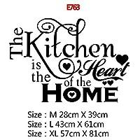 22スタイルの家の装飾アクセサリー壁画壁紙のポスターのための大規模なキッチンウォールステッカーホームデコレーションステッカービニールステッカー (Color : E763, Size : Size M)