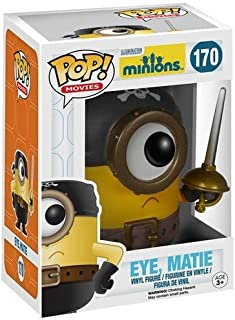 Funko POP Movies: Minions Figure, Eye Figure, Matie