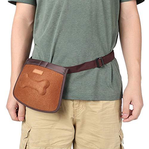 Leckerli-Tasche für Hunde, Gehorsamkeitstraining, tragbar, für Snacks, braun