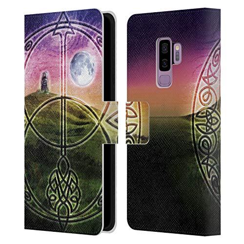 Head Case Designs Officially Licensed Brigid Ashwood Stone Sacred Space Celtic Wisdom 3 Leather Book Wallet Case Cover Compatible with Samsung Galaxy S9+ / S9 Plus