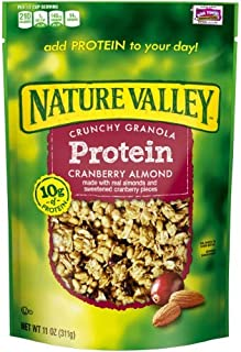 Nature Valley Protein Crunchy Granola, Cranberry Almond (Pack of 4)