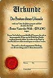 Cartel de metal de 20 x 30 cm, texto en alemán 'Bester padre der Welt'