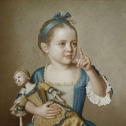 Artland Alte Meister Wandbild Jean Etienne Liotard Mädchen mit Puppe Leinwand Bilder 70 x 70 cm Kunstdruck Gemälde Rokoko R2KQ