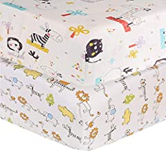【Toddler Sheet Size】Dimension 52*28*5inch.The Fitted Crib Sheet fits a standard crib mattress,making this item perfect for transitioning your little one from their crib to a toddler bed. 【Toddler Sheet Materal】our product is made by 100% cotton,This ...
