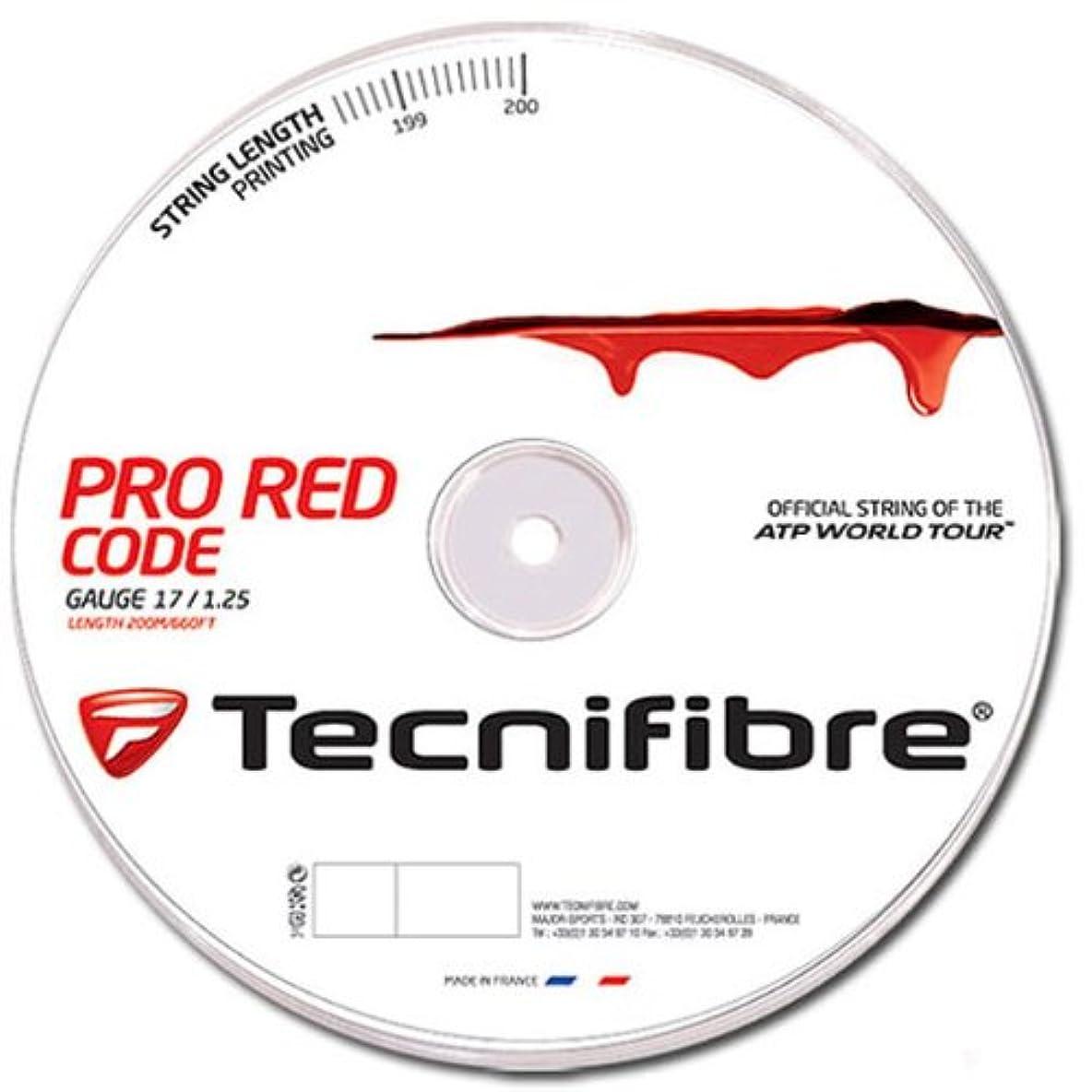 混合した溶けた含むテクニファイバー(Tecnifibre) テニス ガット プロレッドコード PRO RED CODE
