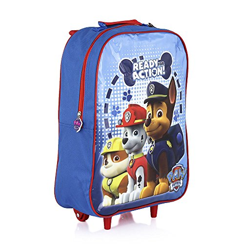 Paw Patrol Trolley Bag Marshall Chase Rubble Children Kids Travel Age 3 Years and Over - Blue