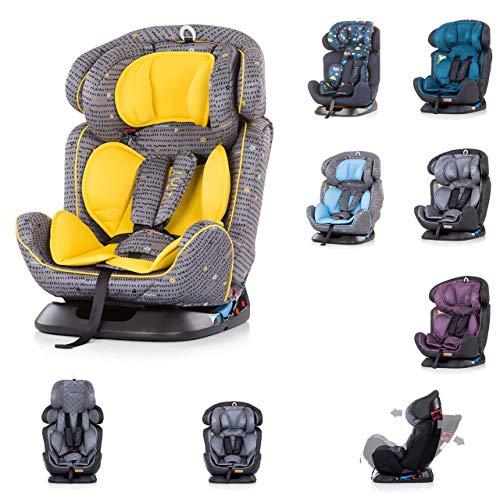 Chipolino Kindersitz 4 in 1 Gruppe 0+/1, 2, 3 (0-36 kg), vielfach verstellbar, Farbe:gelb