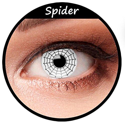 Weiße farbige Kontaktlinsen für Halloween