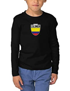 Colombia - Country Soccer Crest Infant/Toddler Cotton Jersey T-Shirt