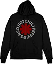 Red Hot Chili Peppers Zip Hoodie Asterisk Size XL Black