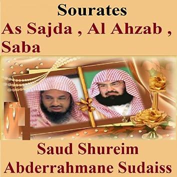 Sourates As Sajda, Al Ahzab, Saba (Quran - Coran - Islam)