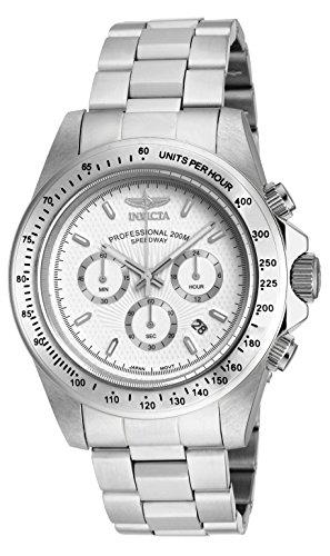 Invicta 18389 Speedway Reloj para Hombre acero inoxidable Cuarzo Esfera blanco