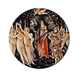 Pealrich Reloj de pared silencioso sin garrapatas – 25 x 25 cm, reloj de primavera Botticelli La Primavera Rústico de casa de granja